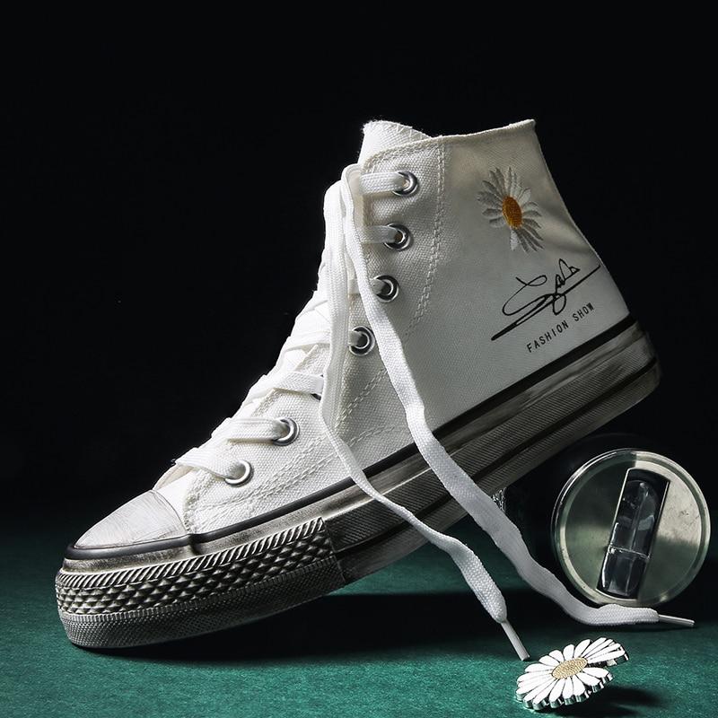 New Men Women Skateboarding Shoes Canvas Shoes High Top Unisex Casual Designer Sneakers High Platform Sneakers Zapatillas Lona