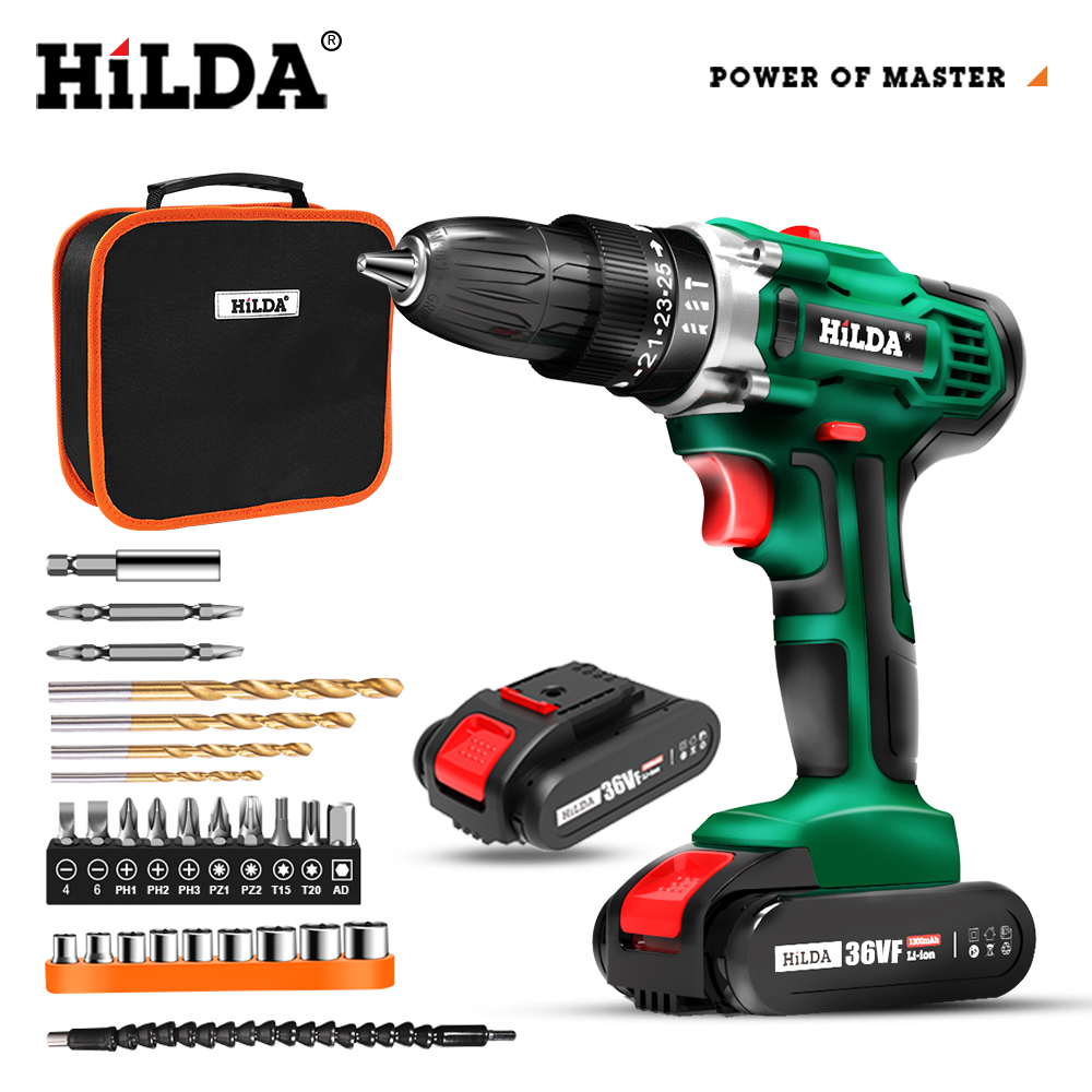 Electric Drill Cordless Screwdriver Lithium Battery Two-speed Mini Drill Cordless Screwdriver Power Tools
