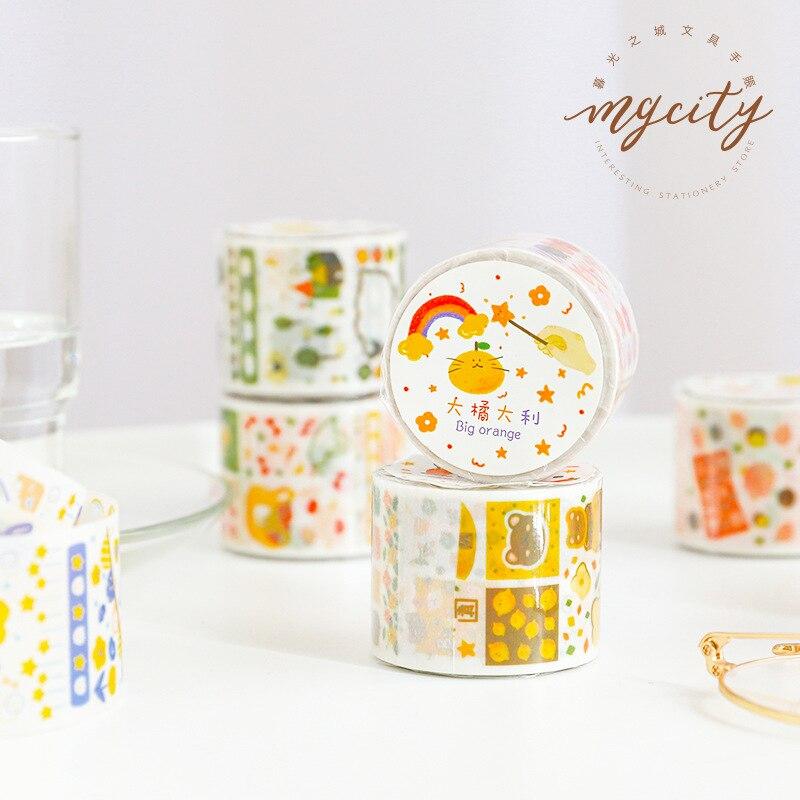 1set/lot Washi Masking Tapes Wonderful Animal Island Decorative Adhesive Scrapbooking DIY Paper Japanese Stickers 5m