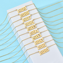 Personalized Year Number Necklaces…
