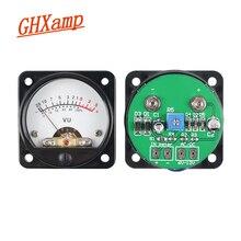 GHXAMP Amplificador de tubo de Medidor de VU, medidor de nivel LED de puntero de 45mm con retroiluminación para amplificador de Audio de 3W 50W, máquina de hiel DIY