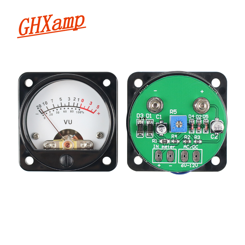 GHXAMP VU Meter Tube Amplifier 45mm Pointer LED Level Meter With Backlight For 3W-50W Audio Amplifier Radio Bile Machine DIY