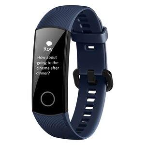 Image 2 - Huawei Honor להקת 5 הגלובלי גרסה חכם להקה עמיד למים AMOLED תצוגת כושר שינה Tracker דם חמצן חכם צמיד שעון
