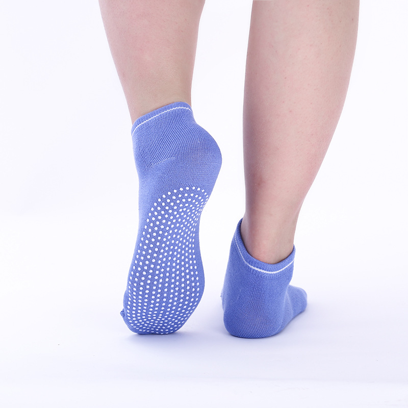 1 Pair Women Yoga Socks Quick-Dry Anti Slip Silicone Gym Pilates Ballet Socks Fitness Sport Socks Cotton Breathable Elasticity