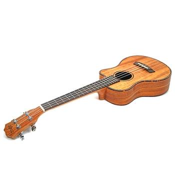 цена на Tenor Concert Acoustic Ukulele 23 Inch Travel Guitar 4 Strings Guitarra Wood Mahogany Plug-in Music Instrument