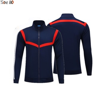 HOWE AO  Men Tracksuit Running Jackets  Football Training Wear Full Zipper Coat Autumn Winter Soccer Uniform
