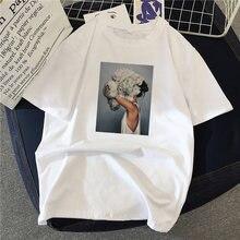 2020 женская летняя футболка для девочек рубашки с цветочным
