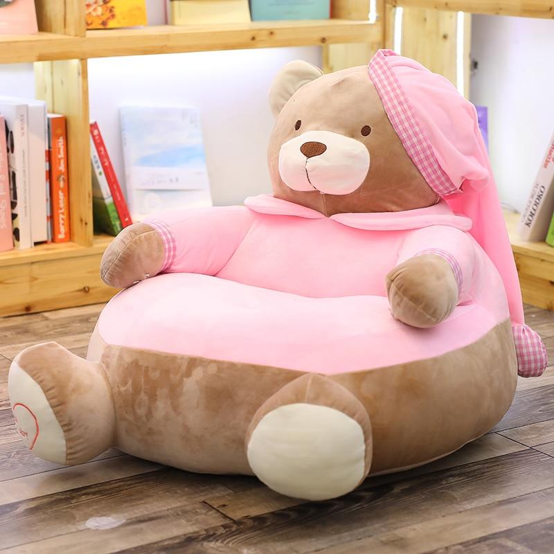 Cartoon Sleeping Bear Stuffed Sofa Children's Favorate Gift Soft Furniture Plush Cushion For Home Decoration