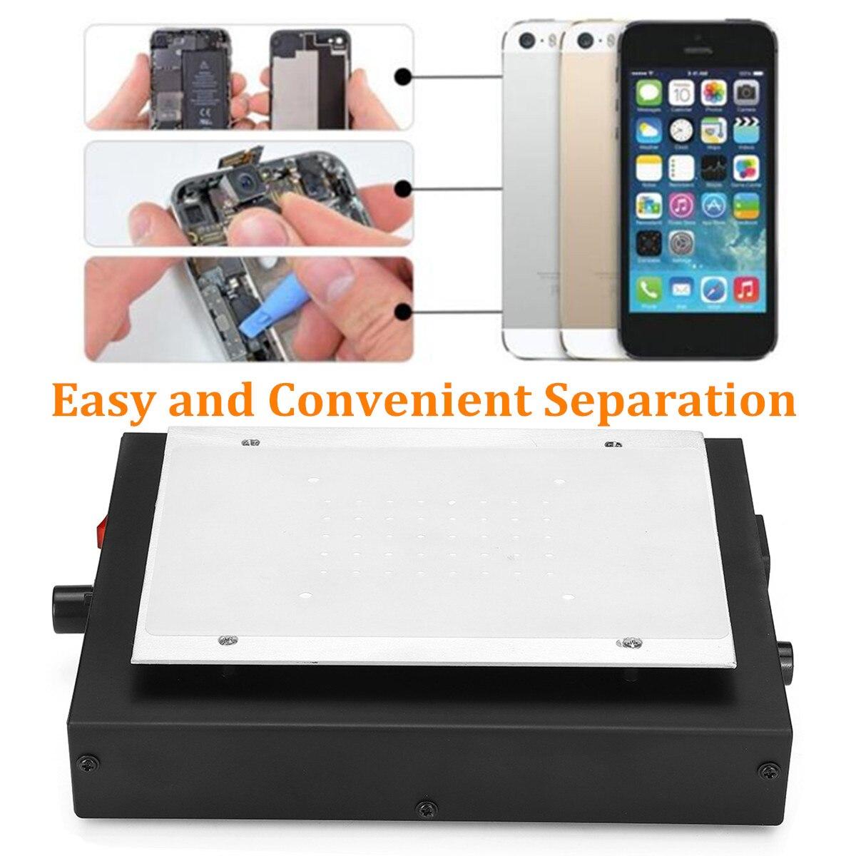 Doersupp Screen Separator Auto Heating Metal Phone Repair Machine Glass Removal Heating Platform Plate LCD Screen Separators