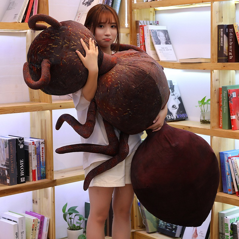 Hot Lovely Funny Simulation Ant Plush Toy Emmet Stuffed Doll Home Decoration Sofa Pillow Cushion Friend Boy Kids Christmas Gift
