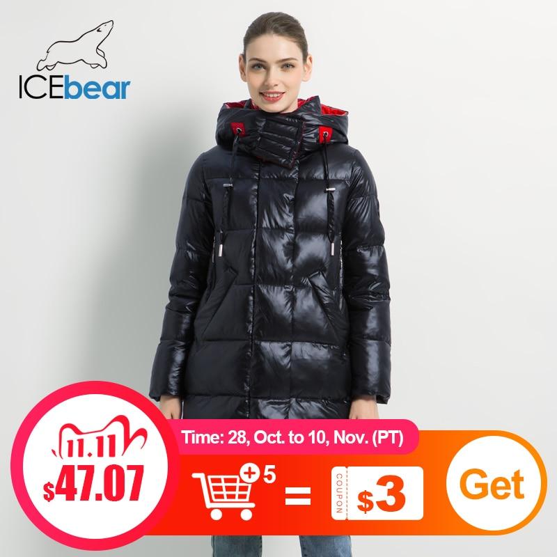 2019 новая зимняя куртка женская мода женщина хлопок высокое качество женские парки с капюшоном женские пальто марка одежды GWD19501|Парки| | АлиЭкспресс
