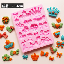 Cartoon Crown & Bow Tie Silicone Fondant Cakevorm Cupcake Jelly Chocolade Taart Decoratie Bakken Tool Mallen(China)