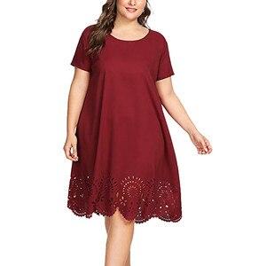 Jednolita sukienka damska lato Plus rozmiar z krótkim rękawem dekolt w serek Plus rozmiar sukienka bandaż sukienki damskie duże rozmiary Casual Ropa Mujer
