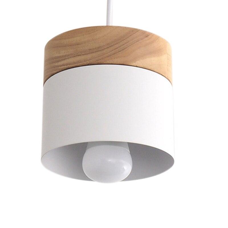 Led Chandelier Lighting Modern Restaurant Cafe Bar Nordic Interior Simple Wooden Chandelier White Oak + Aluminum