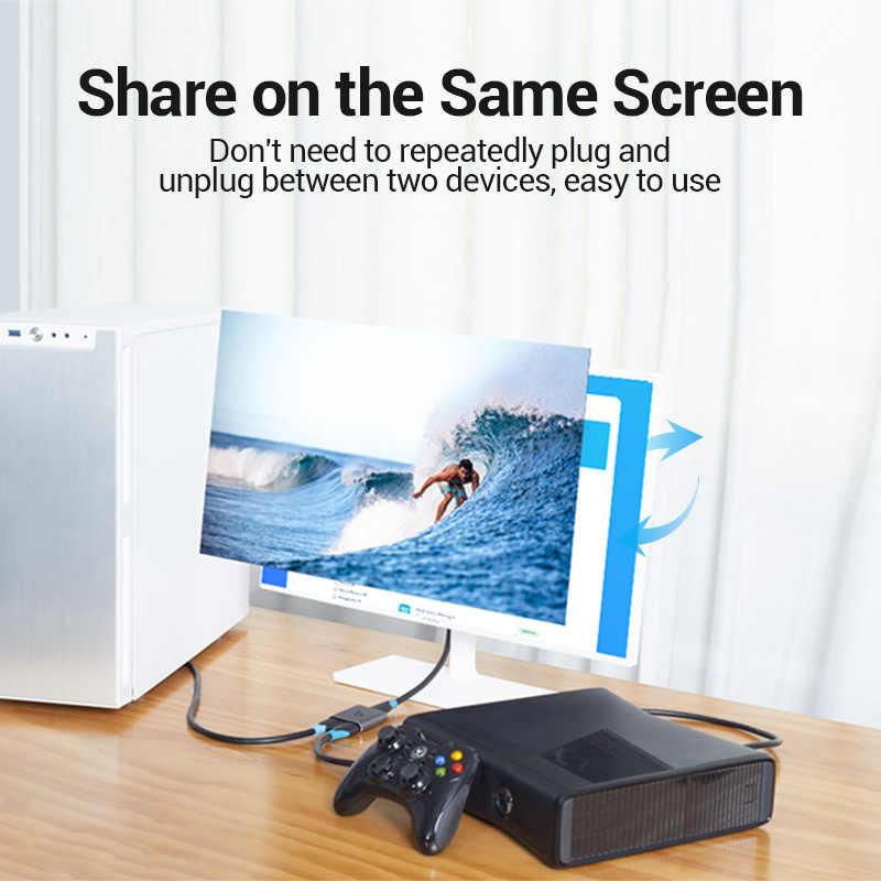 Venção HDMI Switcher 4K Bi-Direção 2.0 Switch HDMI 1x 2/2x Adaptador 1 2 em 1 out Converter para PS4 Pro/4/3 TV Box HDMI Splitter