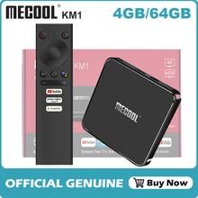 Mecool KM1 Amlogic S905X3 Android TV kutusu başbakan Video 4K 4GB 64GB Android 10.0 önek Wifi Widevine L1 Google oyun ses konsolu