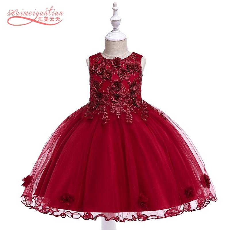 2019 Children Sleeveless Vest Flower Princess Dresses Of Bride Fellow Kids Cotton Inner Gauze Tutu Kids