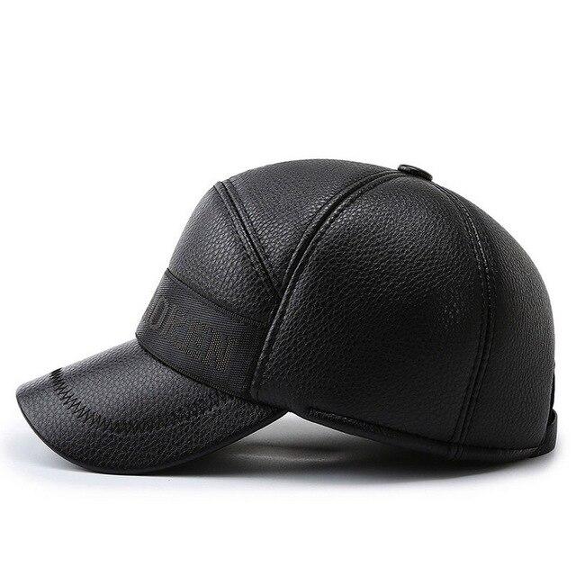 Купить зимние мужские бейсбол шапки повседневное стиль pu материал