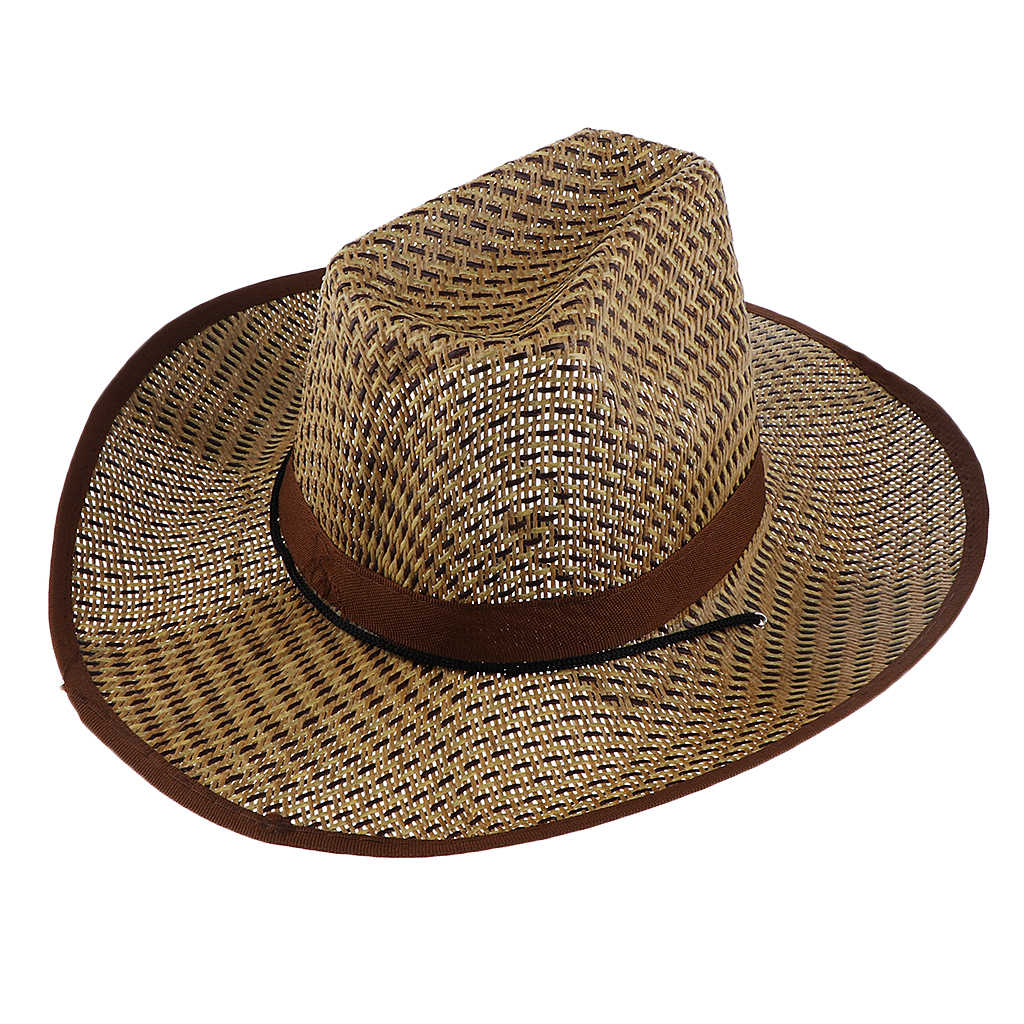 Unisex Yaz Tatil Batı Kovboy Şapkası Vintage Hasır Şapka Moda Fedora Plaj Hawaii Seyahat