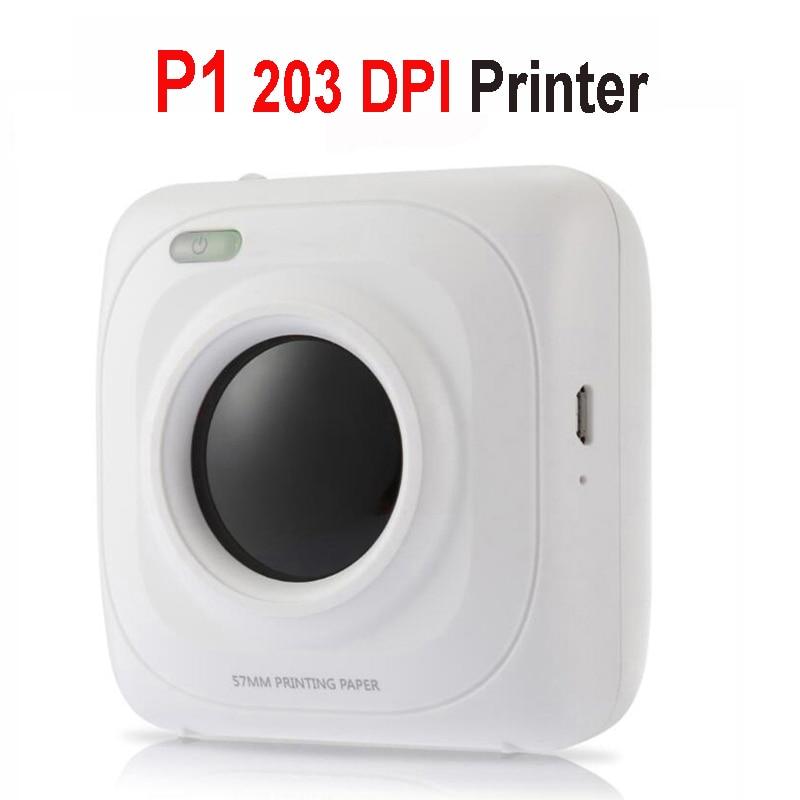 PAPERANG P2 карманный портативный Bluetooth фотопринтер мини 300 dpi термоэтикетка наклейка принтер для мобильного телефона P1 200 dpi - Цвет: P1 Printer