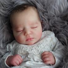 Rbg kit renascer kit boneca de vinil do bebê reborn 19 polegadas johannah dormindo unpainted inacabado peças boneca diy em branco reborn boneca kit