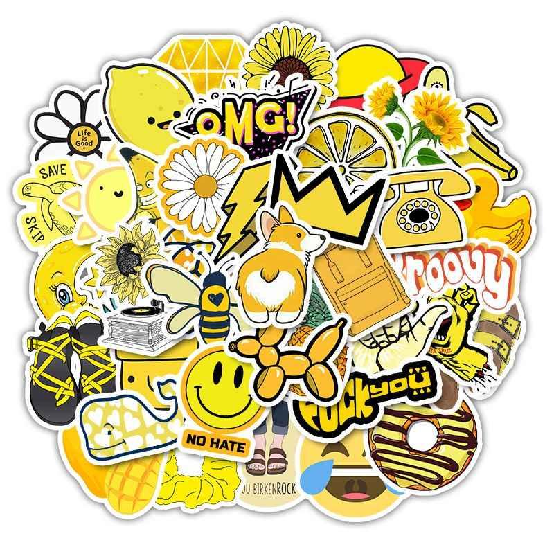 Stiker Untuk 11 13 15 6 Notebook Laptop Kulit Vinyl Stiker Kuning Vsco Lucu Estetika Stiker Untuk Hp Lenovo Apple Mac Hp Stiker Aliexpress