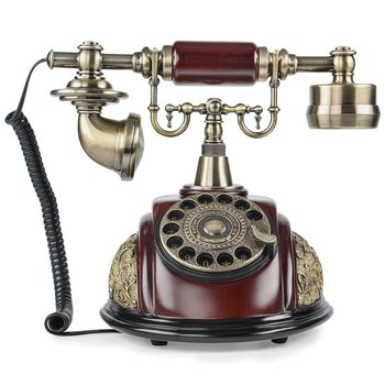 Antique Telephone Classic Old Fashion European Retro Rotary dial Telephone Vintage Wired Corded Telephone Landline Phone