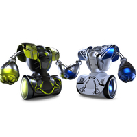 New RC Boxing Robots Intelligent Remote Control Fighting Double Play Toy RC Battle Robot Without Boxing Target Gifts for Boys