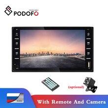 Podofo Car Radio Autoradio 7'' Touch Screen Car MP5 Player Universal Audio Bluetooth Support Rear View Camera For Toyota Corolla