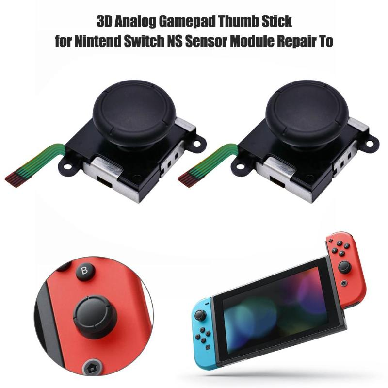 3D Analog Joystick thumb Stick grips Cap Button Module Control Replacement Part for Nintend Switch JoyCon NS Joy-Con Controllers(China)