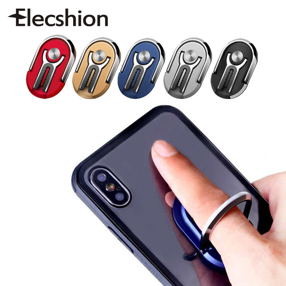 Elecshion Universal Finger Ring Car Phone Holder Air Vent Mount Stand For IPhone Rotating Cell Smart Phone For Samsung Car Ring