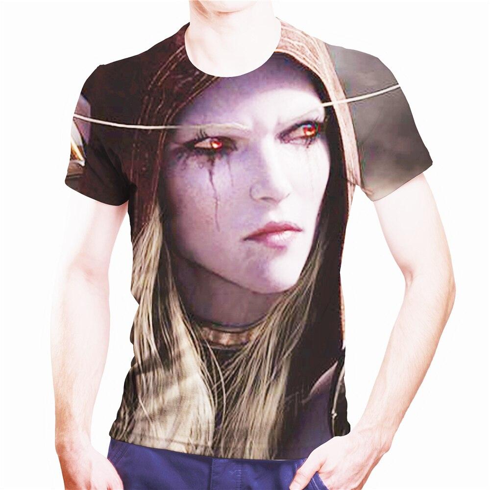 Summer Hot Sale Warcraft And Wizard 3d T-shirt Men 2021 Novelty Street High Street Style Breathable Short Sleeve T-shirt Top