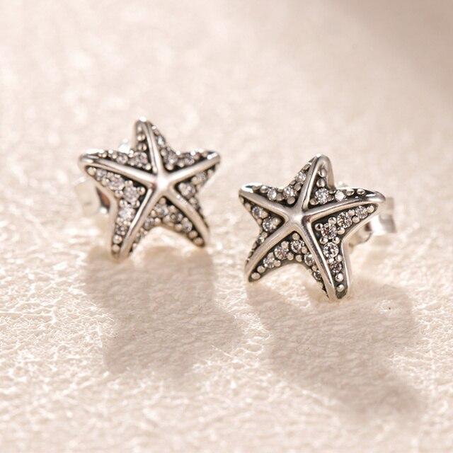Silver Earrings Real 925 Sterling Silver Big Heart CZ Zircon Round Hoop Earrings for Women Fashion Silver Earring Jewelry Gift 4