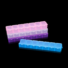 Size 13.2cm Plastic Rectangle Transparent Storage Box Case Holder Craft Organizer Handcraft DIY Beads Jewelry Box Case Container