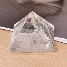 Cristal naturel clair Quartz pyramide Quartz guérison pierre Chakra Reiki cristal Point tour décor à la maison méditation minerai minéral