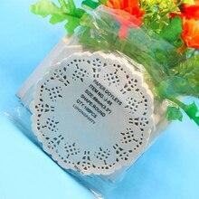 50 pulgadas three.5. Servilleteros de 88mm de diámetro de la alfombra de encaje de papel hueco vintage hecho a mano diy scrapbooking wed