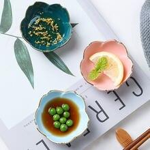 Креативная мини тарелка с вишенкой керамическая для супа миска