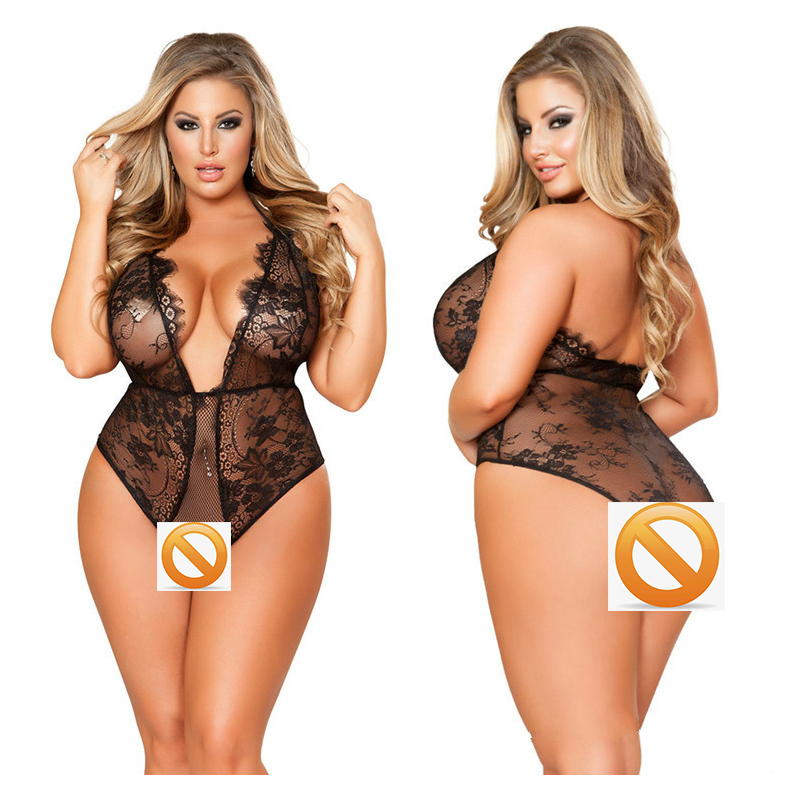 Women Lace Black Porno Girl Lingerie Increase Plus Size 4xl 5xl <font><b>6xl</b></font> Female <font><b>Sexy</b></font> Underwear Lingerie Intimate <font><b>Sexy</b></font> Costumes Erotic image
