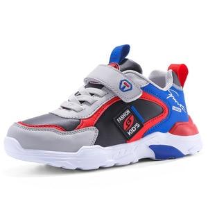 Image 5 - أحذية الأطفال بويز بنات 2020 ربيع جديد نمط الفيلكرو على غرار الجلود موضة الأطفال أحذية رياضية أحذية رياضية رائجة البيع