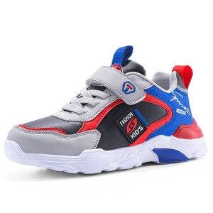 Image 5 - 子供の靴 boys ガールズ 2020 春新スタイルベルクロ スタイル革のファッション子供のスポーツの靴ホット販売スニーカー