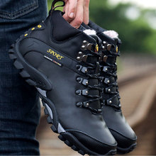 BACKCAMEL Snow Boots Waterproof Mens Footwear Winter Ankle Fur Breathable Shoes Outdoor Casual Size 38-45