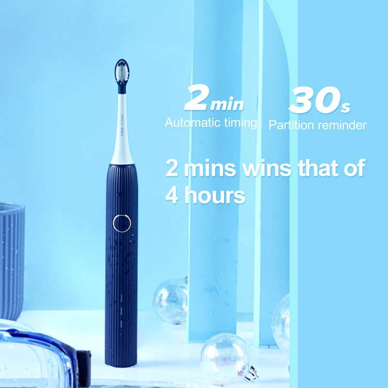 SOOCAS V1 cepillo de dientes eléctrico sónico Ultra sónico cepillo de dientes automático tipo c recargable impermeable cepillo de dientes adulto limpio