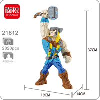 The Marvel Avengers Thor Thunder Hero DIY 3D Model Diamond Mini Building Small Blocks Bricks Toy for Children no Box
