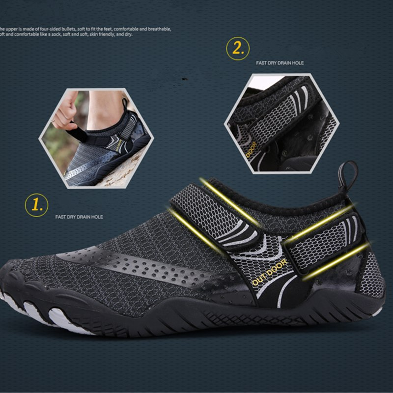 Outdoor Beach Water Shoes Men&Women Aqua Shoes Quick-dry Lightweight Breathable Rubber  Outdoor Professional Water Sports Sneake 3