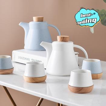 Kreatywny styl skandynawski dzbanek ceramiczny dzbanek na herbatę i zestaw filiżanek zestaw herbaty dzbanek na herbatę zestaw angielski zestaw herbaty luksusowy zestaw herbaty zestaw herbaty kubek tanie i dobre opinie NoEnName_Null CN (pochodzenie)