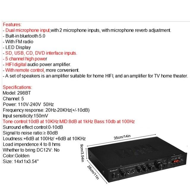 2000W 5 Channel Audio Power Amplifier  6