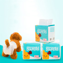 10pcs/Bag Dog Diapers Diaper for Dogs Pet Female Disposable Leakproof Nappies Puppy Super Absorption Physiological Pants