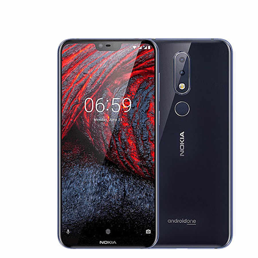 "Version mondiale Nokia 6.1 Plus Android LTE Smartphone 5.8 ""4 GB 64GB Snapdragon Octa Core empreinte digitale 4G téléphone portable"