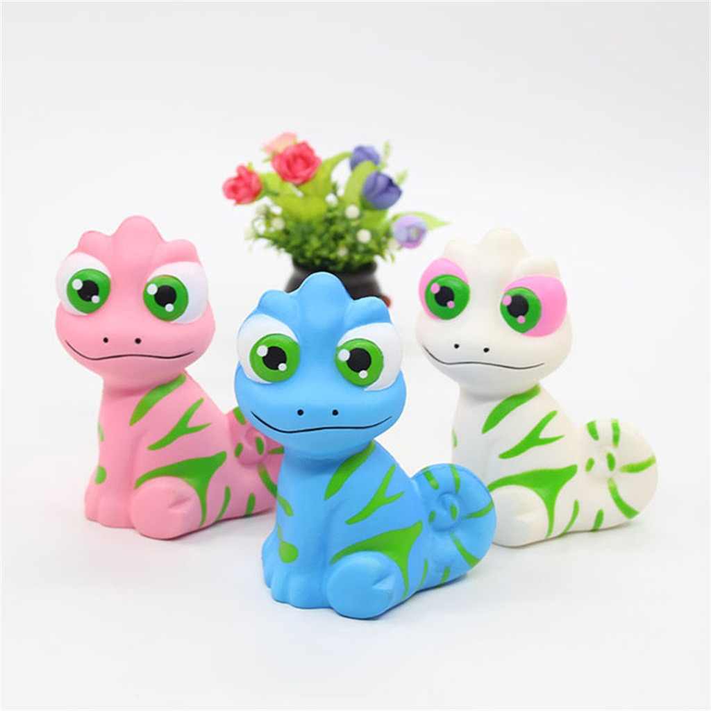 Lizard PU  Toy Slow Rising Collection Stress Reliever Toys Simulation Chameleon Decompression Vent Toys For Children L1223