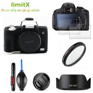 Image 2 - Canon EOS M50 18 150mm lens tam koruma kiti ekran koruyucu kamera kılıfı UV filtre lens hood Cap temizleme kalem hava üfleyici